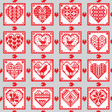 Love ornament seamless background in ethnic style stock illustration