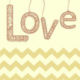 Love ornament sign with zigzag. Modern style Stock Image