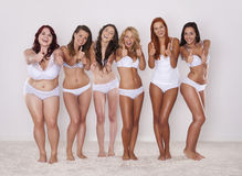 We love our bodies Stock Photography