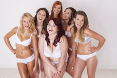 We love our bodies Royalty Free Stock Photo