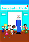 We love our dentist Stock Image