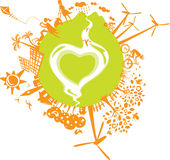 Love our Eco planet Royalty Free Stock Photography