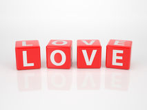 Love out of Letter Dices Royalty Free Stock Photo