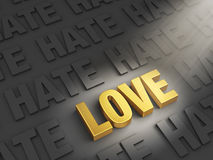 Love Outshines Hate Royalty Free Stock Photos