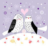 Love owls Royalty Free Stock Photography