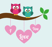 Love owls Stock Photography