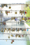 Love pad lock Royalty Free Stock Photos