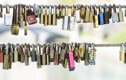 Love pad lock Stock Photography