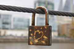 Love padlock Royalty Free Stock Images