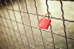 Love padlock view Stock Photography
