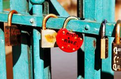 Love padlocks royalty free stock photography