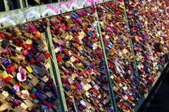 Love padlocks Stock Image