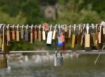 Love padlocks at Bakewell Derbyshire Royalty Free Stock Images