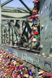 Love padlocks on the Hohenzollern Bridge in Cologne Royalty Free Stock Photography