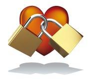 Love Padlocks. Insert on padlocks what you want Stock Photos