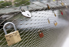 Love padlocks locks Royalty Free Stock Image