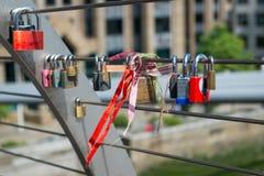 Love padlocks Stock Photography