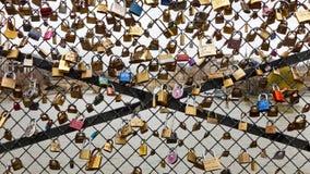 Love Padlocks in Paris Royalty Free Stock Image