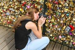 Love padlocks, Paris Stock Photo