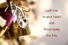 Love padlocks on a Paris bridge Stock Photography