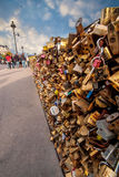 Love padlocks Paris, France. Royalty Free Stock Image