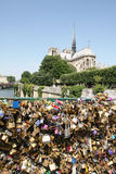 Love padlocks in Paris Stock Photo