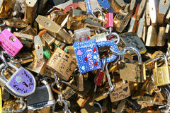 Love padlocks in Paris Royalty Free Stock Photo