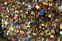 Love padlocks in Paris Royalty Free Stock Image