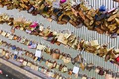 Love padlocks in Paris Royalty Free Stock Photos