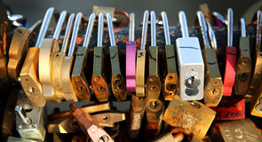 Love padlocks Stock Photos