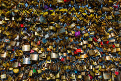 Love Padlocks at Pont des Arts in Paris, France Stock Images
