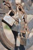 Love padlocks. Are symbol of enduring love stock image