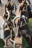 Love padlocks. Are symbol of enduring love Royalty Free Stock Photo