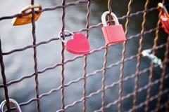 Love padlocks view Stock Image
