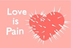Love is pain Royalty Free Stock Photography