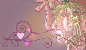 Love. Painting of romantic love couple Royalty Free Stock Images