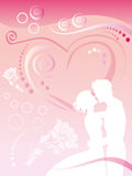 In love pair on a background lines stock photos
