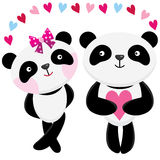 Love Panda Stock Images