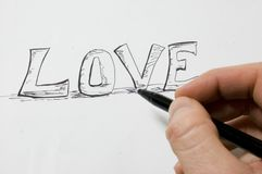 Love on Paper Royalty Free Stock Photos