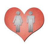 Love paper art on white Royalty Free Stock Image