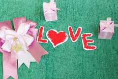 Love,Paper of love Royalty Free Stock Images