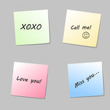Love paper notes Stock Image