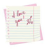 Love paper sheet Royalty Free Stock Photo