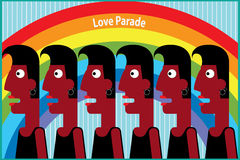 Love Parade Obrazy Royalty Free