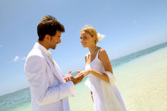 Love on paradisiacal island Stock Photography