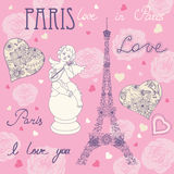 Love in Paris royalty free stock photo