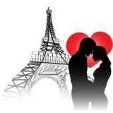 Love in Paris Stock Photos