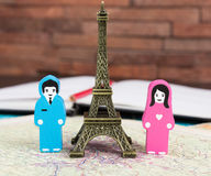In love in Paris Royalty Free Stock Images