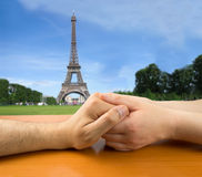 Love in Paris Stock Photo