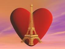 Love Paris, France - 3D render Stock Images
